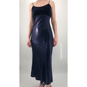 Vtg 90s/y2k Jessica McClintock G Sax maxi dress